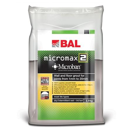 BAL - 5kg Micromax2 Grout - Various Colours