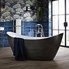 Heritage Alderley Croc Skin Effect Freestanding Acrylic Bath (1730 x 730mm) profile small image view 1