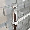 """1 x Traditional 1/2"""" Chrome Ball Air Vent profile small image view 1"""