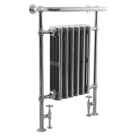 Bampton Traditional 960 x 675mm Heated Towel Radiator - Chrome