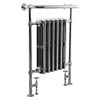 Bampton Traditional 960 x 675mm Heated Towel Radiator - Chrome profile small image view 1