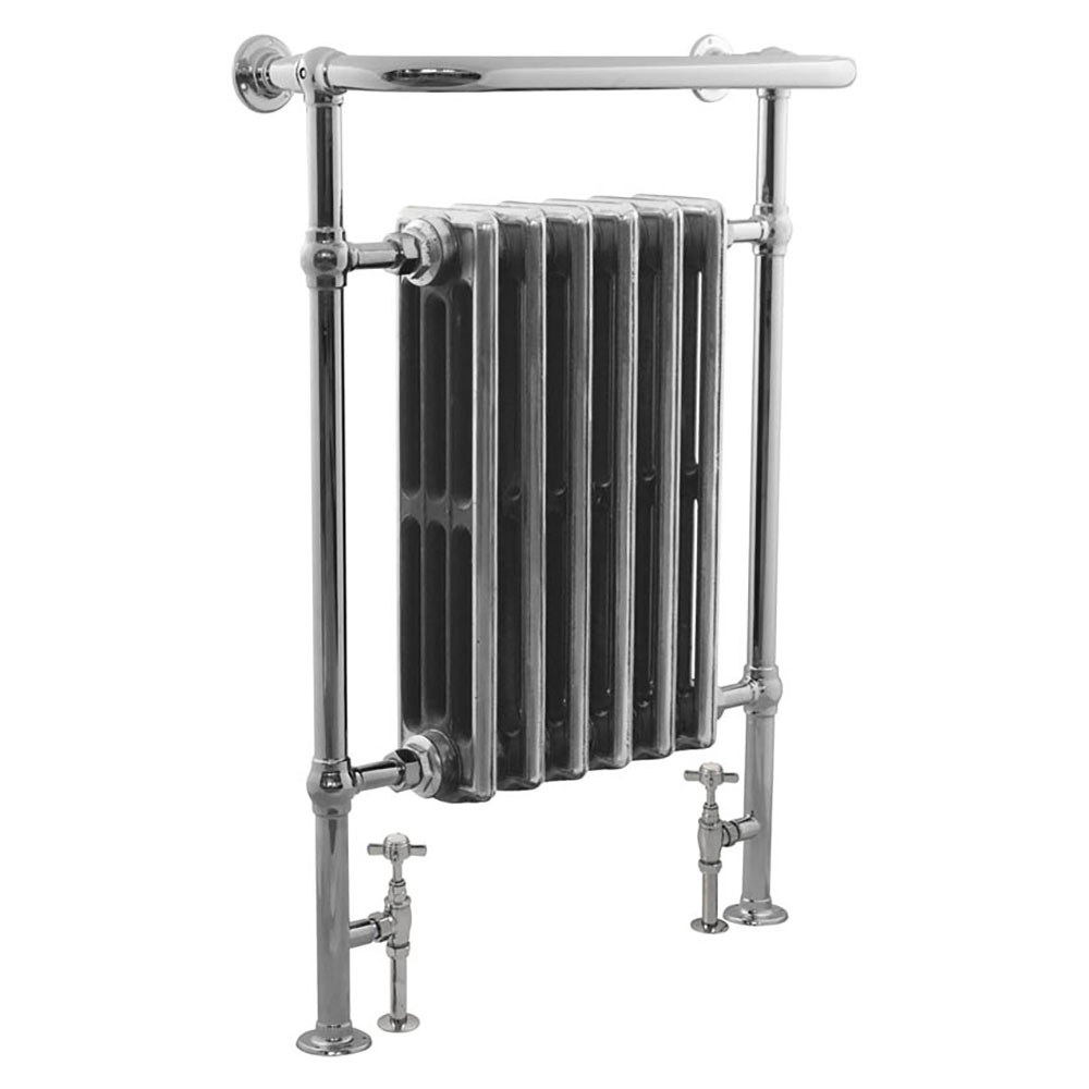 Bampton Traditional 960 x 675mm Heated Towel Radiator - Chrome