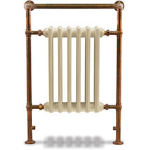 Bampton Traditional 960 x 675mm Heated Towel Radiator - Copper Medium Image