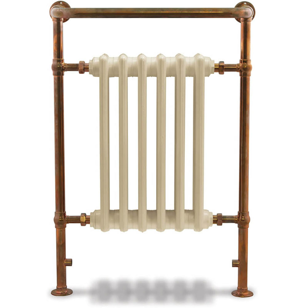 Bampton Traditional Copper 960 x 675mm Heated Towel Radiator
