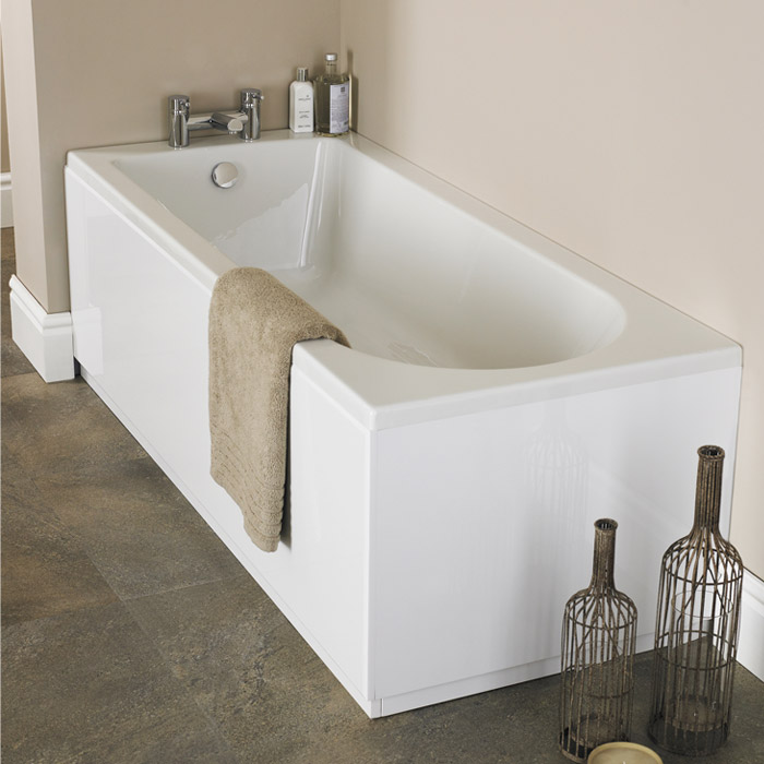 Barmby Standard Single Ended Acrylic Bath - Various Size Options profile large image view 2