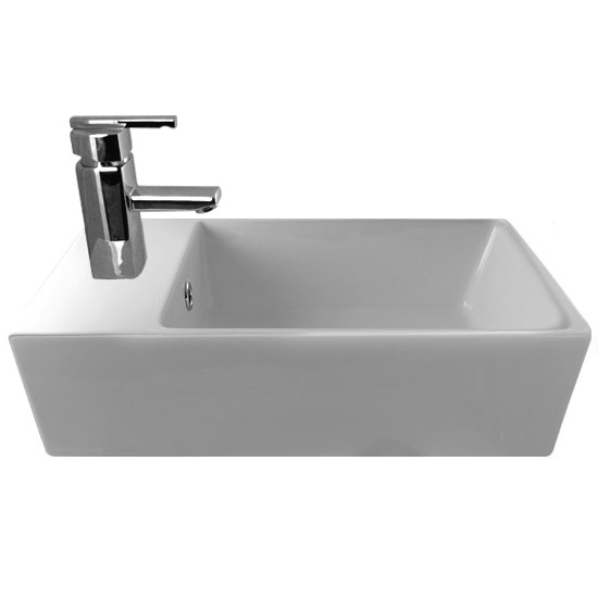 Ultra Compact Rectangular Counter Top Ceramic Basin - BAS002 Large Image