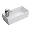 Ultra Compact Rectangular Counter Top Ceramic Basin - BAS002 profile small image view 1