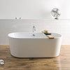 BC Designs Viado 1580mm Freestanding Modern Bath profile small image view 1