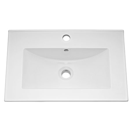 Ultra 600mm Minimalist Ceramic Inset Basin - BAS010