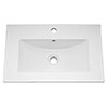 Ultra 600mm Minimalist Ceramic Inset Basin - BAS010 profile small image view 1