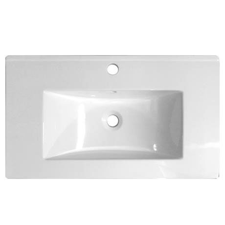 Ultra 800mm Minimalist Ceramic Inset Basin - BAS011
