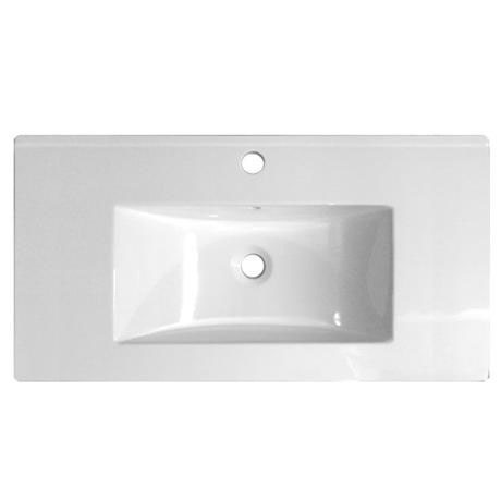 Ultra 1000mm Minimalist Ceramic Inset Basin - BAS012