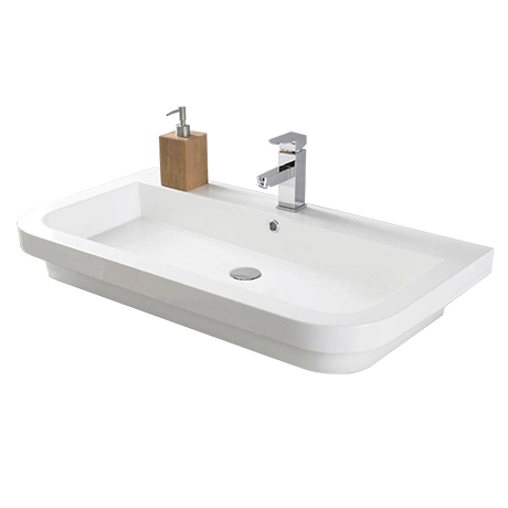 Hudson Reed Bias 900x500mm Polymarble Counter Top Basin - BAS024