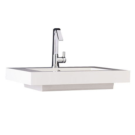 Hudson Reed 700 x 520mm Rectangular Raised Counter Top Basin - BAS033
