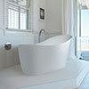 BC Designs Slipp 1590mm Modern Slipper Freestanding Bath profile small image view 1