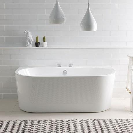 BC Designs Ancora Back To Wall Modern Bath 1640 x 590mm