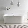 BC Designs Ancora Back To Wall Modern Bath 1640 x 590mm profile small image view 1