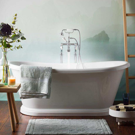 BC Designs Double Ended Roll Top Freestanding Bath 1700 x 750mm