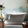BC Designs 1700 x 750mm Double Ended Roll Top Freestanding Bath profile small image view 1