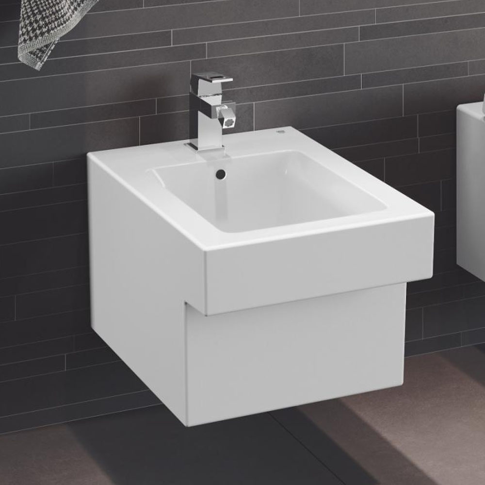 Grohe Cube Wall Hung Bidet Package (Tap + Waste Included)