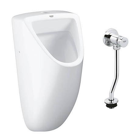 Grohe Bau Ceramic Urinal + Manual Flush Valve