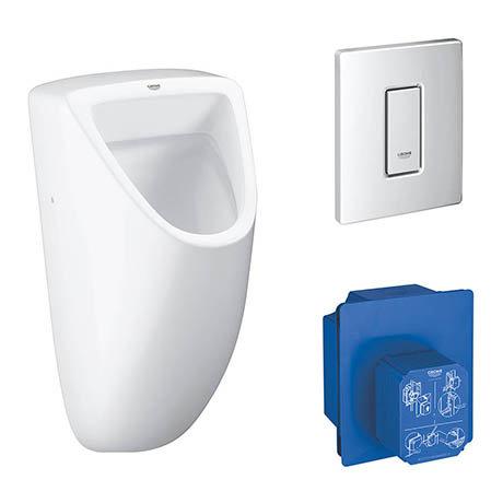 Grohe Bau Ceramic Urinal + Flush Plate + Rough-In Box