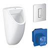 Grohe Bau Ceramic Urinal + Flush Plate + Rough-In Box profile small image view 1