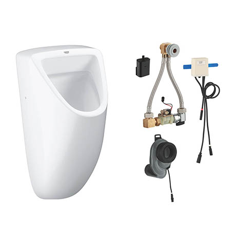 Grohe Bau Ceramic Urinal + Automatic Temperature Sensor Flush