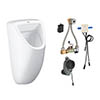 Grohe Bau Ceramic Urinal + Automatic Temperature Sensor Flush profile small image view 1