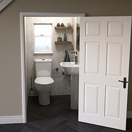 Grohe Bau 4-Piece Bathroom Suite (Basin + Rimless Close Coupled Toilet)