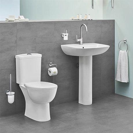 Grohe Bau 4-Piece Bathroom Suite (Basin + Rimless Toilet)