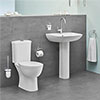 Grohe Bau 4-Piece Bathroom Suite (Basin + Rimless Close Coupled Toilet) profile small image view 1