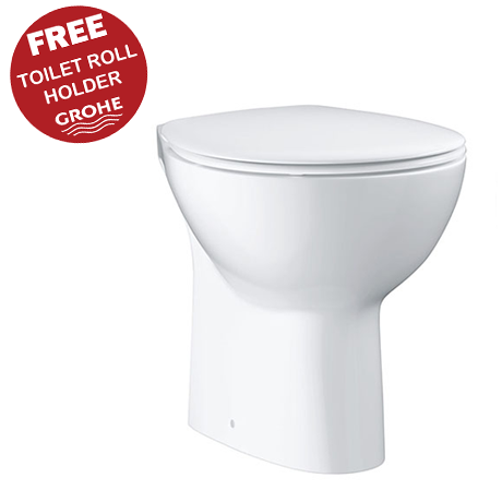 Grohe Bau Ceramic Back to Wall Toilet with Soft Close Seat