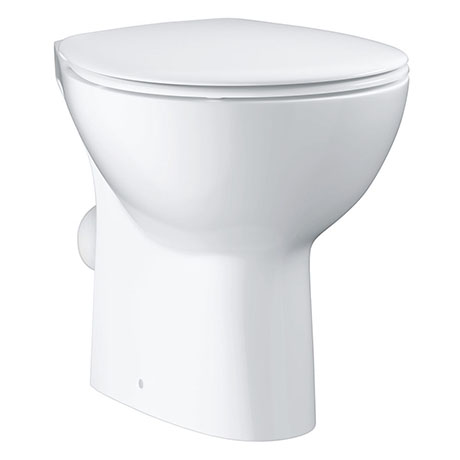 Grohe Bau Ceramic Floor Standing Open Back Toilet + Soft Close Seat