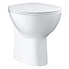 Grohe Bau Ceramic Back to Wall Toilet with Soft Close Seat profile small image view 1