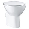 Grohe Bau Ceramic Floor Standing Open Black Toilet + Soft Close Seat profile small image view 1