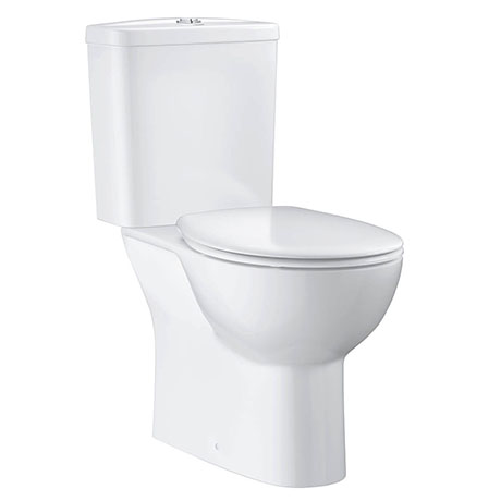 Grohe Bau Rimless Close Coupled Toilet with Soft Close Seat (Bottom Inlet)