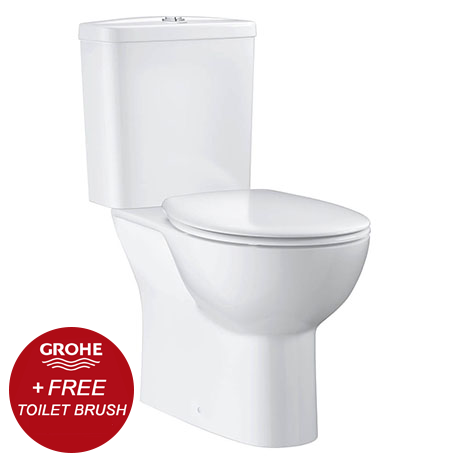 Grohe Bau Rimless Close Coupled Toilet with Soft Close Seat (Bottom Inlet) + FREE GIFT PROMOTION