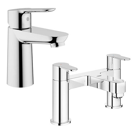Grohe BauEdge Tap Package (Bath + Basin Tap)