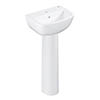 Grohe Bau 450mm 1TH Basin + Full Pedestal profile small image view 1