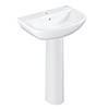 Grohe Bau 600mm 1TH Basin + Full Pedestal profile small image view 1