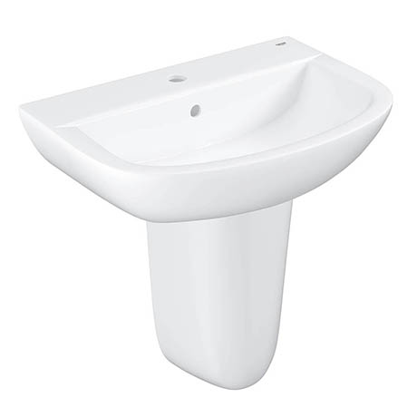 Grohe Bau 600mm 1TH Basin + Half Pedestal