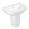 Grohe Bau 550mm 1TH Basin + Half Pedestal profile small image view 1