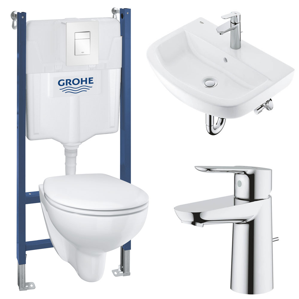 Grohe Solido Bau/Skate COMPLETE Wall Hung Bathroom Suite