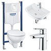 Grohe Solido Bau/Skate COMPLETE Wall Hung Bathroom Suite profile small image view 1