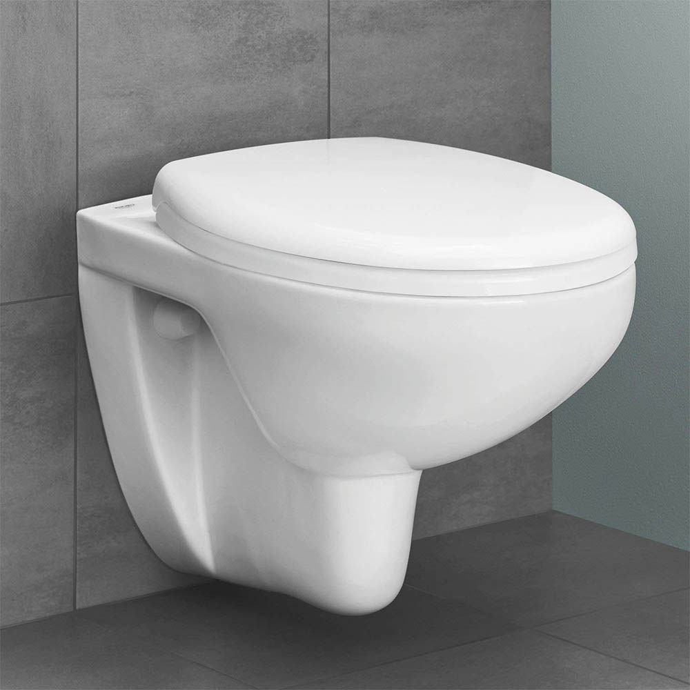 Grohe Bau Rimless Wall Hung Toilet with Soft Close Seat + FREE TOILET ROLL HOLDER