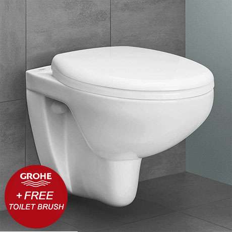 Grohe Bau Rimless Wall Hung Toilet with Soft Close Seat