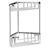 Bayswater Large Wirework 2 Tier Corner Basket profile small image view 1