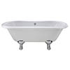 Bayswater Leinster 1500mm Double Ended Freestanding Bath profile small image view 1
