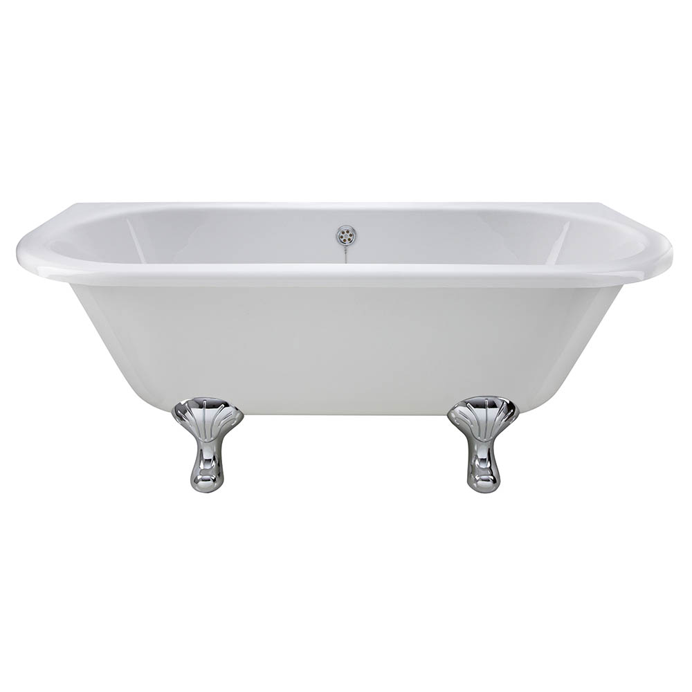 Bayswater Courtnell 1700mm Double Ended Back-To-Wall Freestanding Bath